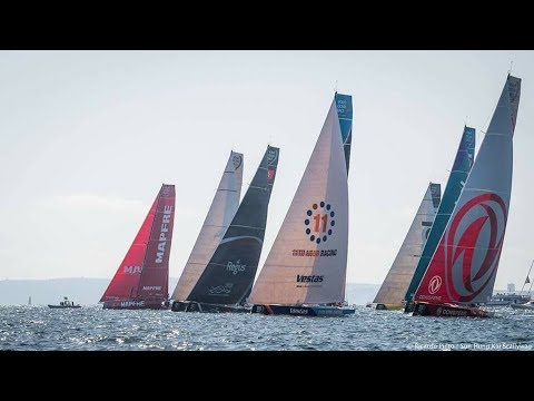 Volvo Ocean Race on Sailaway simulator Leg 2 start Lisbon to Cape town