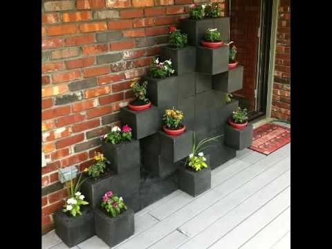 Ideas con bloques de hormig n youtube for Bloque de cemento para jardin