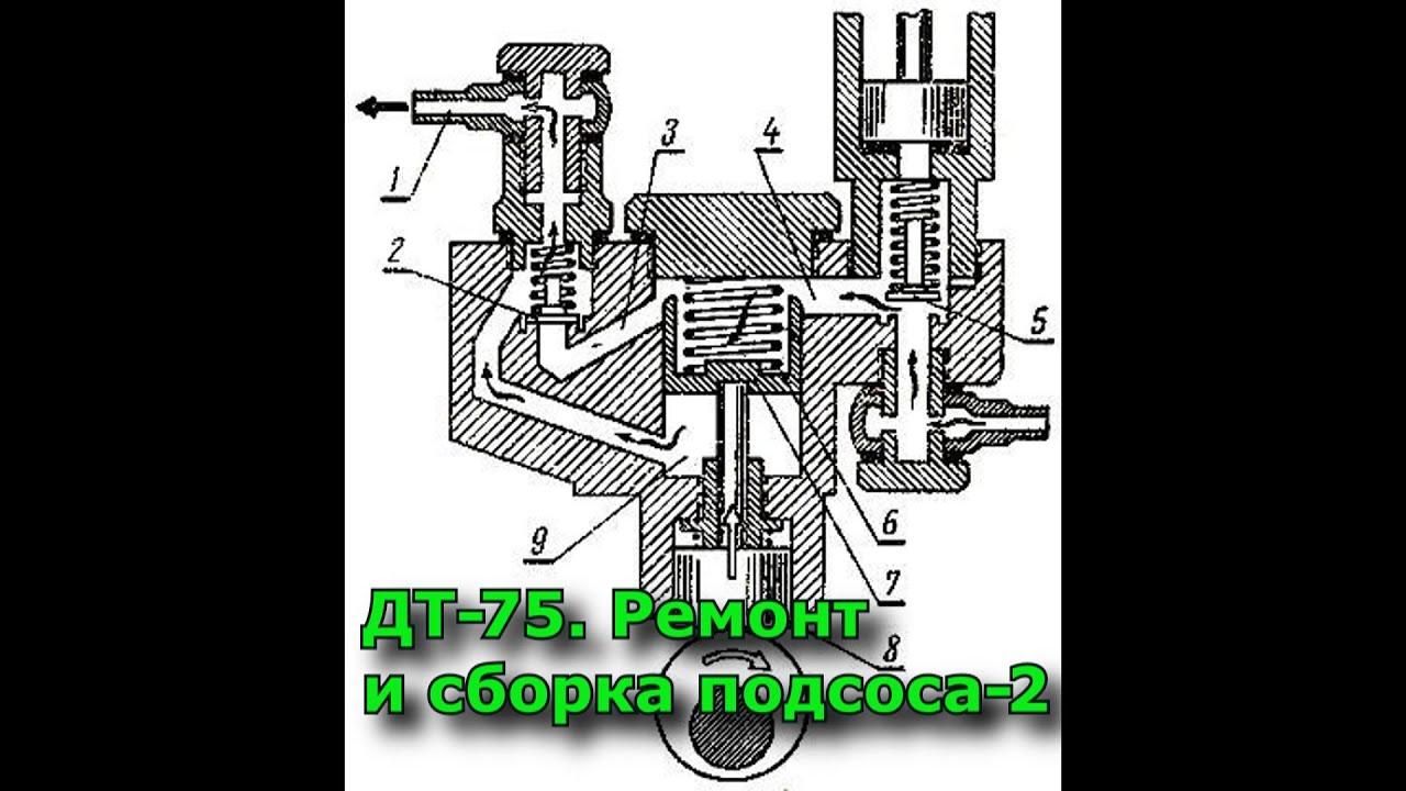 ДТ-75. Ремонт и сборка подсоса (ТННД). Часть 2