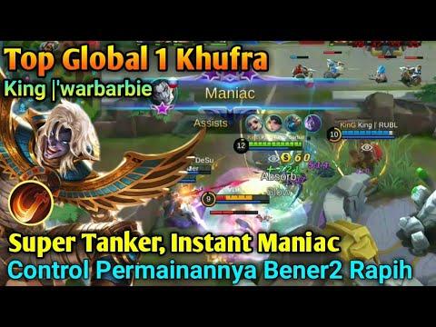Top Global 1 Khufra, Best Control! Super Tanker Instant Maniac, King  'WarBarbie [Mobile Legend]
