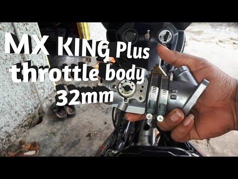 MX KING Pasang Throtle Body Ukuran 32mm