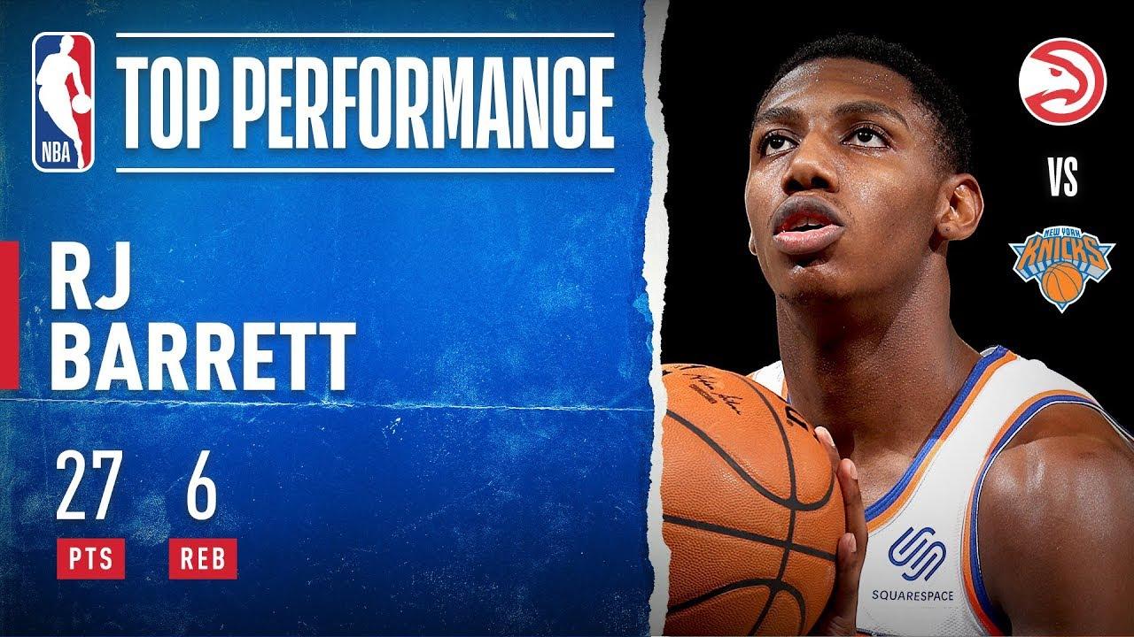 Knicks' RJ Barrett scores game-high 27 points in NBA Rising Stars ...