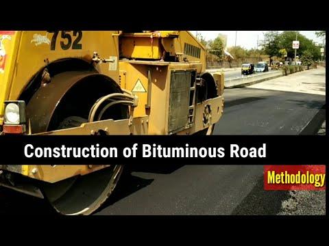 Construction of Bituminous Concrete Road,work methodology
