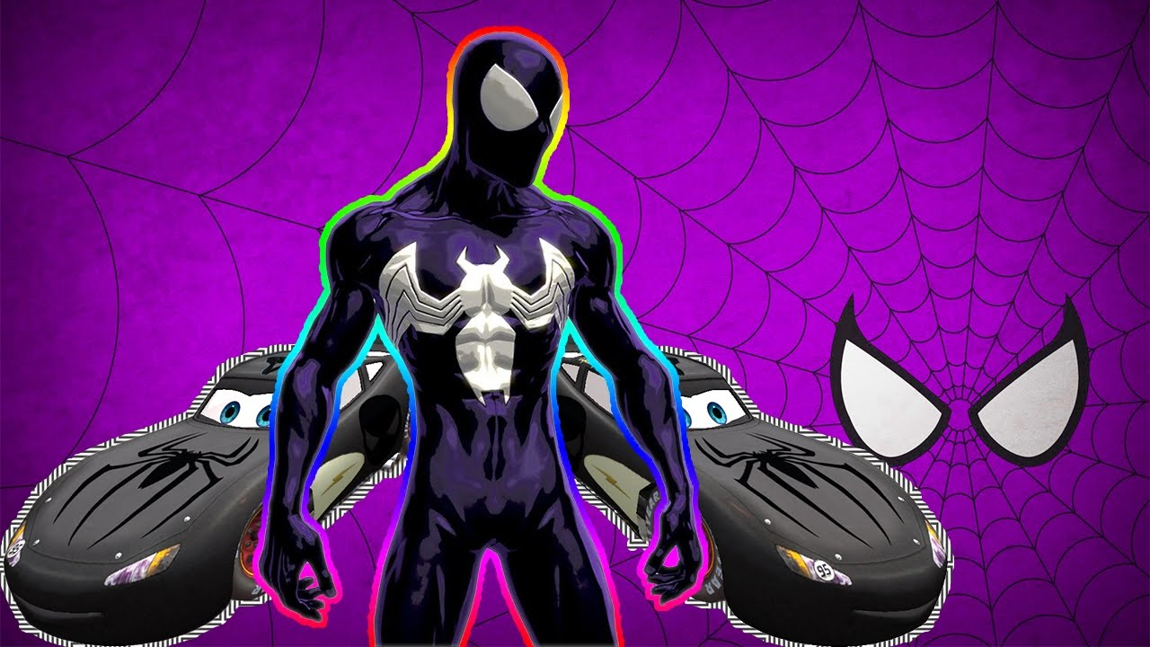 NEW STYLE BLACK SPIDERMAN Disney Cars 3 Lightning McQueen Transport City