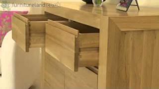 Pablo Solid Oak 2 Door 2 Drawer Cabinet