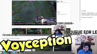 Voyboy Reacts to himself Reacting to his Laugh | Yassuo 1v2 Outplay  - LoL Funny Stream Moments #205