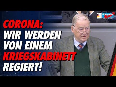 Corona-Diktatur auf Widerruf ist keine Lösung! - Alexander Gauland - AfD-Fraktion im Bundestag