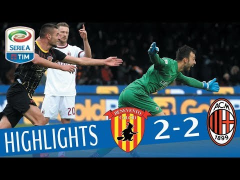 Benevento - Milan 2 - 2 - Highlights - Giornata 15 - Serie A TIM 2017/18