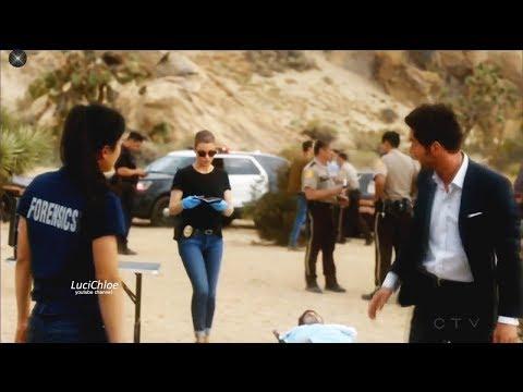 Lucifer 3x01  Lucifer Chloe & Ella in Crime Scene Season 3 Episode 1  S03E01