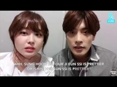 ENG Sub Sung Hoon ❤  Ji Eun on VLive Oksusu  Meeting