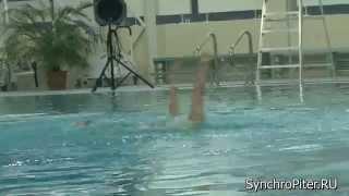 Синхронное плавание. Дуэт 5. СПб - март 2014