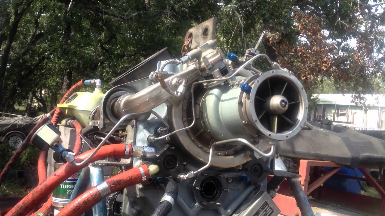 R R Allison 250C 20 turbine engine runup & shutdown MOV