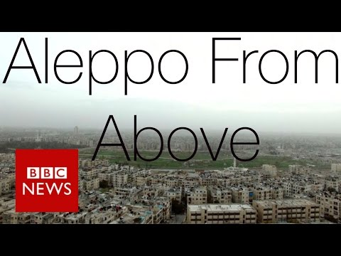 Syria conflict - Drone reveals extent of Aleppo's destruction - BBC News