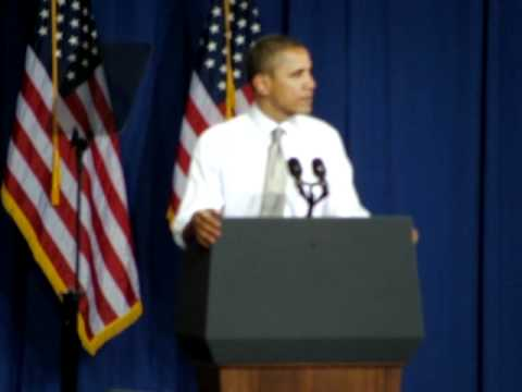 Obama at University of Vermont