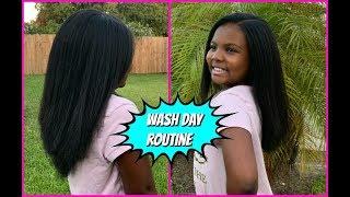 TWEEN Natural Hair WASH DAY Routine & Updates   LMC Beauties