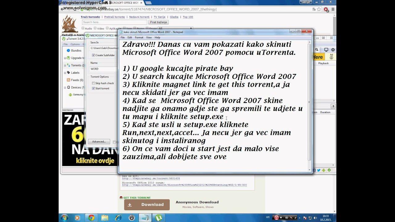 microsoft office 2007 free download hrvatski