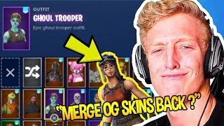 Tf∪ℯ RESPONDS TO EPIC MERGING HIS *OG SKINS* BACK *FORTNITE* | Fortnite Funny Moments