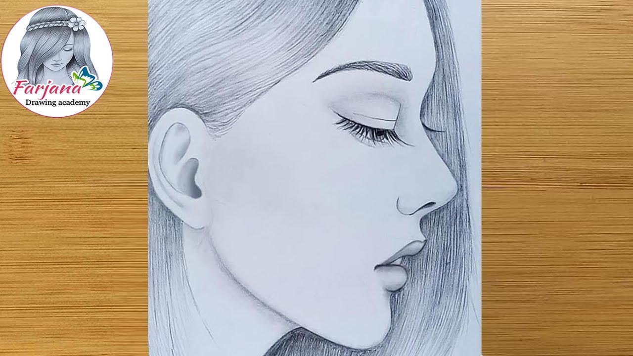 Easy Way To Draw A Girl With Red Lips Pencil Sketch Girl