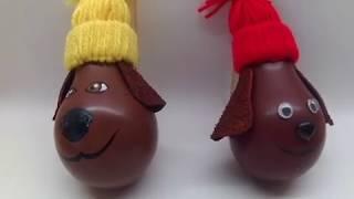 """DIY  Новогодняя игрушка из лампочки. Символ 2018 года """"Собака"""""""