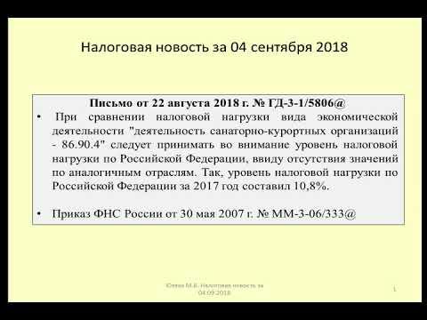 04092018 Налоговая новость об оценке налоговой нагрузки / The Tax Burden In Russia