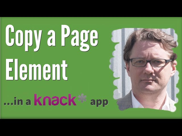 Copy a Page Element in a Knack App