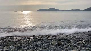 거제도 몽돌해변  잔잔한 파도소리 효과음 | 잠오는소리…