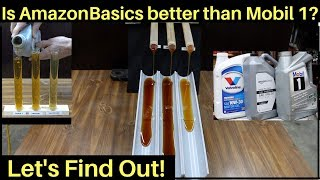 Is AmazonBasics Full Synthetic Motor Oil better than Mobil 1 Let&#39s find out!