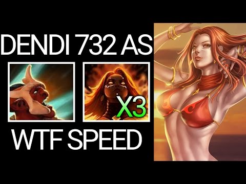 Troll + Lina WTF is That Speed Lina Pro Carry by Dendi Dota 2