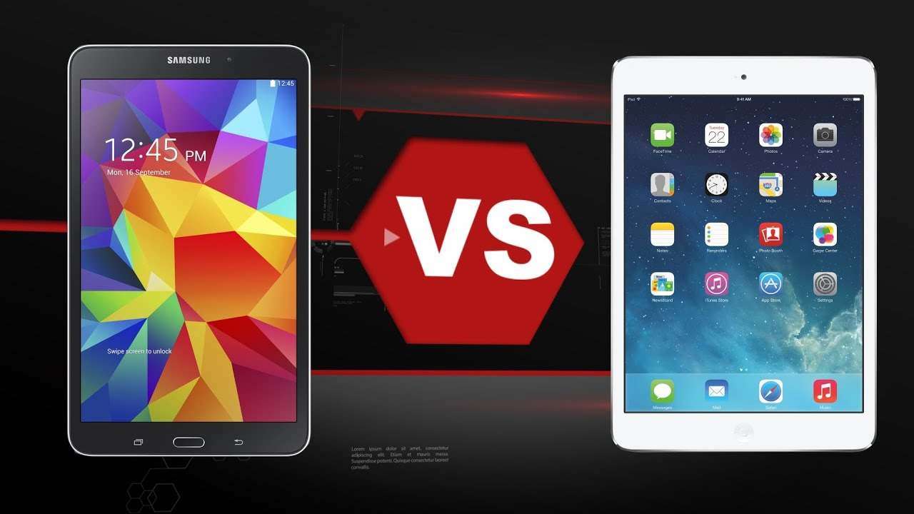Samsung galaxy tab 4 8 0 vs ipad mini 2 retina youtube for Samsung galaxy 4 tablet