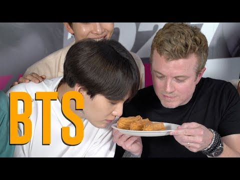 BTS Tries Churros, In N Out & Gets LA Dodgers Gear!