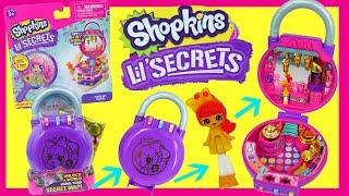 Shopkins Lil Secrets - New Pocket Locket Toy With Secret Lock & Code