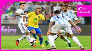 Amical : le Brésil arrache la victoire dans le temps additionnel contre l'Argentine