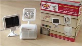 Home Improvements: Bath, Electric and Around the House : How to Install Solar-Powered Lighting