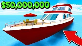 BUYING A $50,000,000 YACHT AT 18 YEARS OLD IN ROBLOX! (Roblox High School Roleplay)