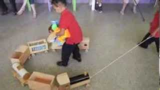 Amg Kids Playing With Train