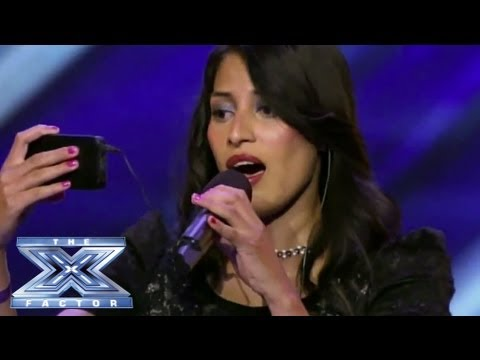 Yosselin Marquez - Contestant Reads Lyrics from her Phone - THE X FACTOR USA 2013