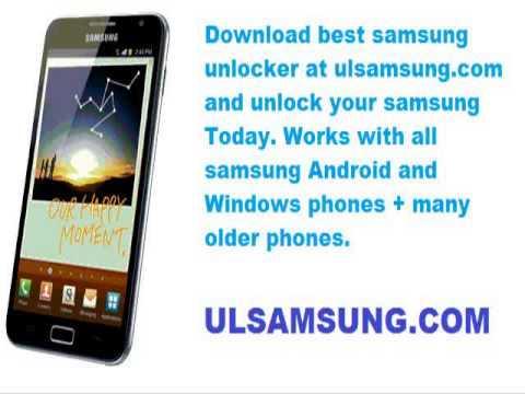 Free unlock samsung m110