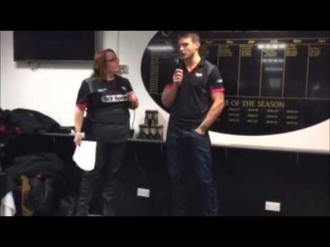 Ospreys Supporters Club interview Dan Biggar 12/12/15