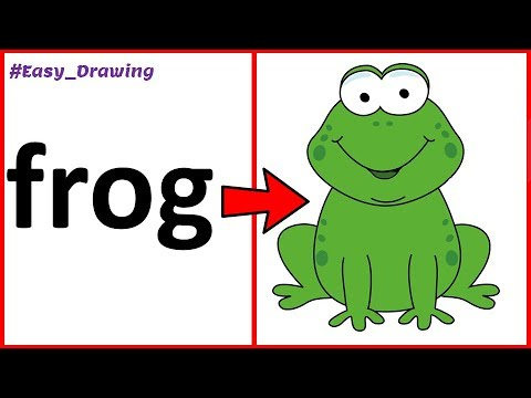 How To Draw A Frog By Using Word FROG   Easy Cartoon Frog ...