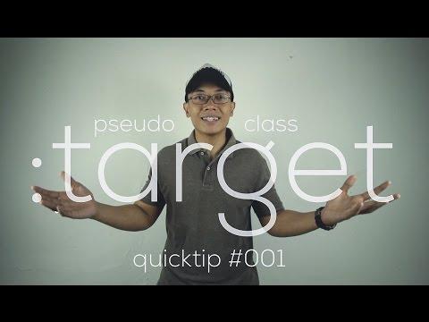 QuickTip #1 : CSS Pseudo-Class :target