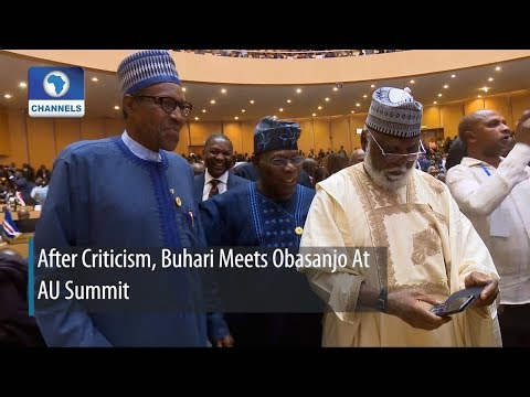 After Criticism, Buhari Meets Obasanjo At AU Summit