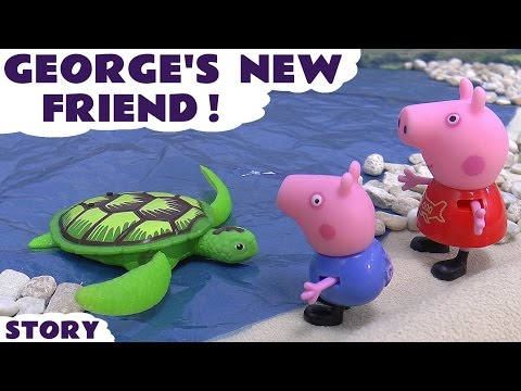 Peppa Pig English Episode Play Doh Robo Turtle   Juguetes de Peppa Toys Toy Unboxing Review Pepa