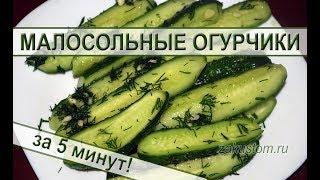 Малосольные огурцы - самый вкусный и быстрый рецепт приготовления огурчиков. Lightly salted cucumber