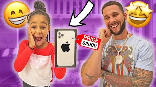 Telling Cali she's in BIG TROUBLE then surprising her with a new iPHONE 11 😁