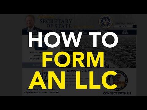How to form an LLC [Louisiana]