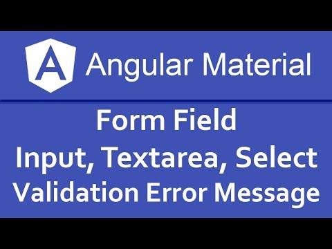 Angular Material Tutorial in Hindi #04 Form Field Input