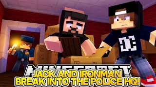 Minecraft Adventure - IRONMAN AND JACK BREAK INTO THE POLICE STATION