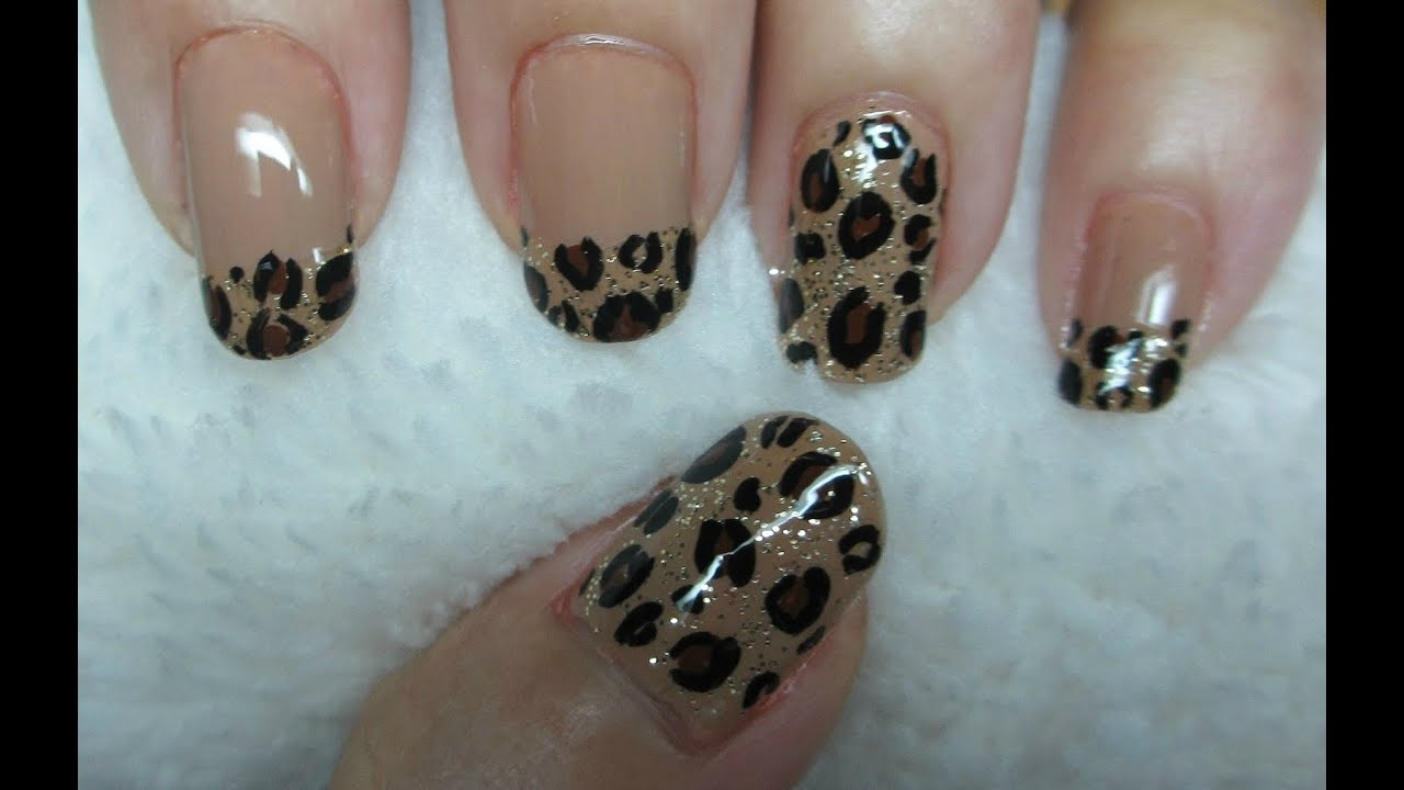 Leopard Print Nail Art - YouTube