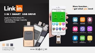 3-in-1 OTG USB Flash Drive for Android/iPhone/iPad/Macbook/Windows