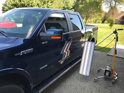 2012 Ford F150 Drivers Door Dent Removal, Sherman Illinois